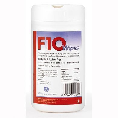 F10 Disinfectant Wipes