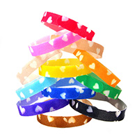 LOVE HEARTS ID Bands by Wagging Tailz