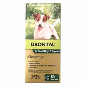 Drontal Allwormer 3kg/50tabs