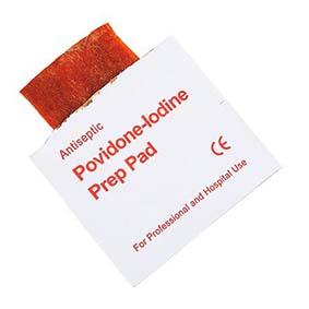Povidone-Iodine Prep Pads x10
