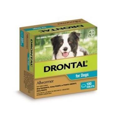 Drontal Allwormer 10kg/100tabs
