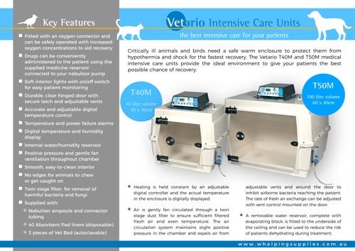 Vetario ICU Brochure | Whelping Supplies