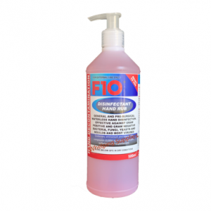 F10 Disinfectant hand rub 500ml